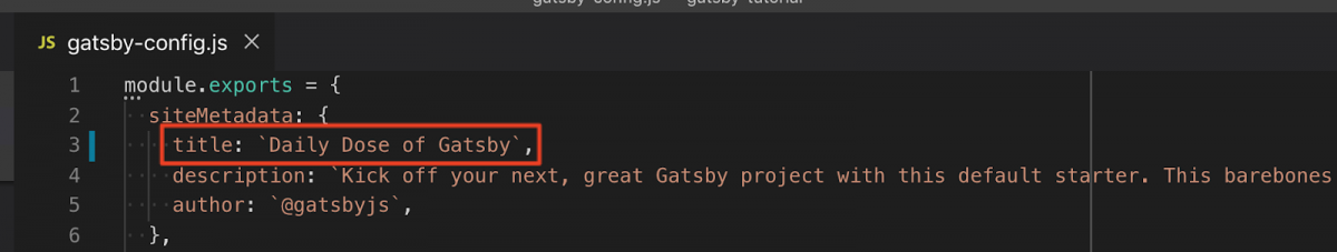 Gatsby Config File