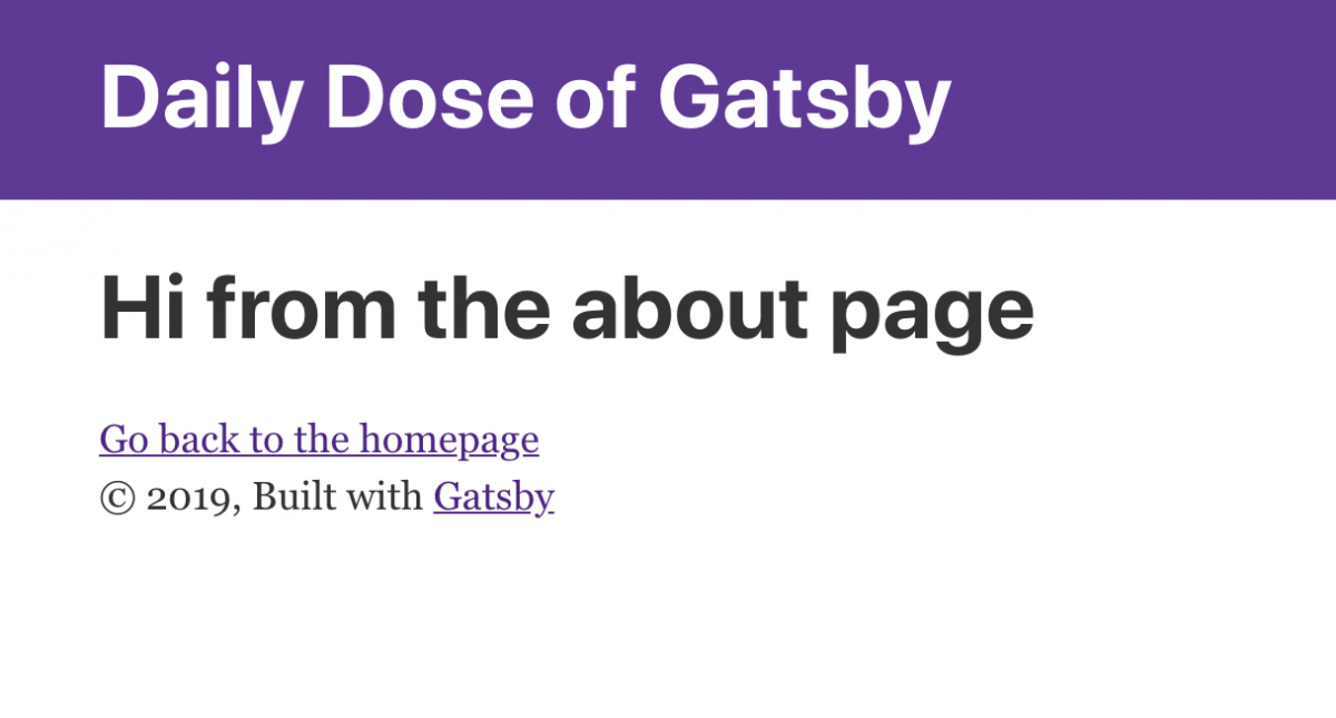 Gatsby About Page
