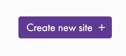 Gatsby Create Site Button