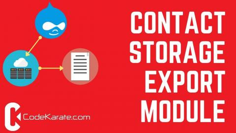 Drupal 8 Contact Storage Export Module - Daily Dose of Drupal Episode 215